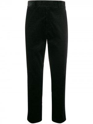 Вельветовые брюки прямого кроя Haider Ackermann. Цвет: черный