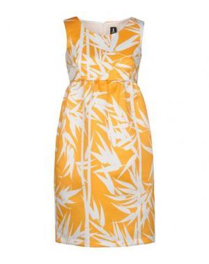 Короткое платье 1-ONE. Цвет: охра