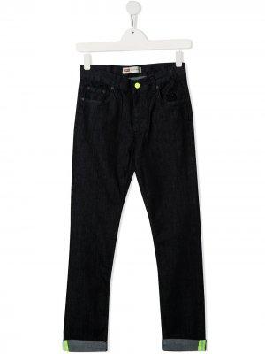 Levis Kids джинсы скинни с подворотами Levi's. Цвет: синий