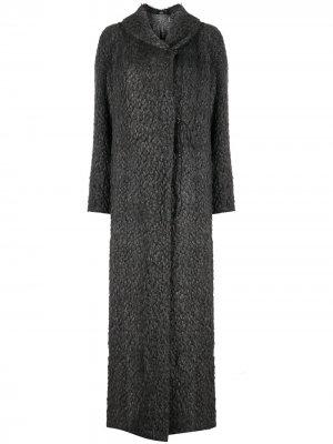 Пальто макси 2000-х годов Gianfranco Ferré Pre-Owned. Цвет: серый
