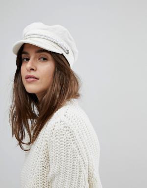 Белая вельветовая шапка -Белый Brixton