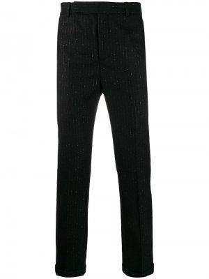 Классические брюки в тонкую полоску с эффектом металлик Saint Laurent