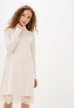 Платье Befree. Цвет: бежевый