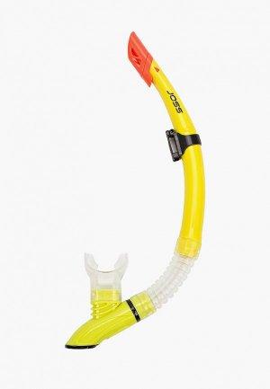 Трубка для плавания Joss. Цвет: желтый