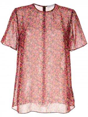 Полупрозрачная футболка Lilia CAMILLA AND MARC. Цвет: красный