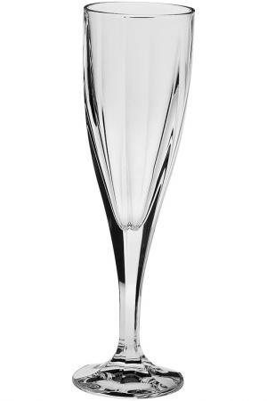 Рюмка д/шампанского 180 мл 6шт CRYSTAL BOHEMIA. Цвет: белый