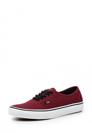 Кеды Vans U AUTHENTIC port royale/bla. Цвет: бордовый