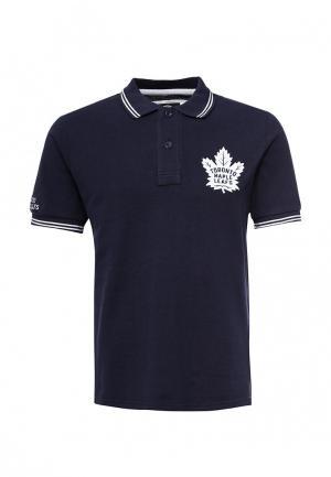 Поло Atributika & Club™ NHL Toronto Maple Leafs. Цвет: синий