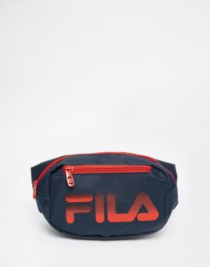 Сумка-кошелек на пояс Fila. Цвет: синий