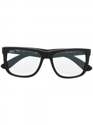 Солнцезащитные очки Justin в прямоугольной оправе Ray-Ban. Цвет: черный