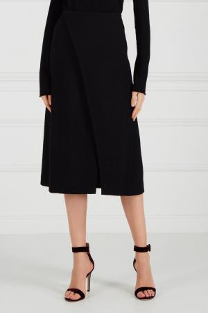 Черная юбка с запахом Chapurin. Цвет: черный