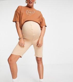 Шорты-леггинсы песочного цвета -Светло-бежевый цвет Missguided Maternity