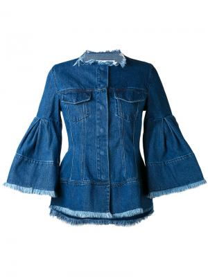 Джинсовая куртка с рукавами клеш Marquesalmeida Marques'almeida. Цвет: синий