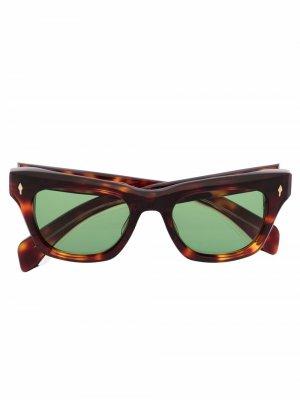 Солнцезащитные очки Dealan Jacques Marie Mage. Цвет: коричневый