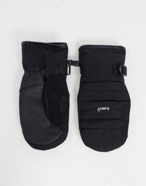 Черные утепленные варежки Bro-down-Черный Planks