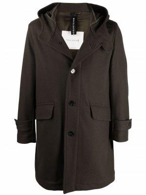 Пальто Kirkton с капюшоном Mackintosh. Цвет: зеленый