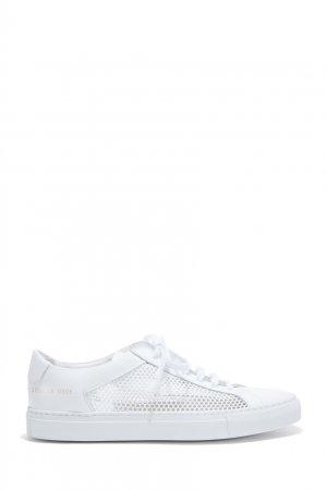 Белые комбинированные кеды Common Projects. Цвет: белый