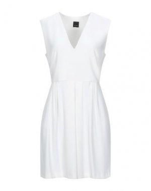 Короткое платье PINKO. Цвет: белый