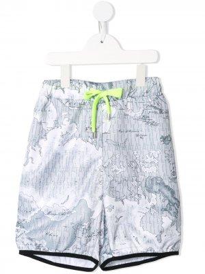 Спортивные шорты с принтом Alviero Martini Kids. Цвет: серый
