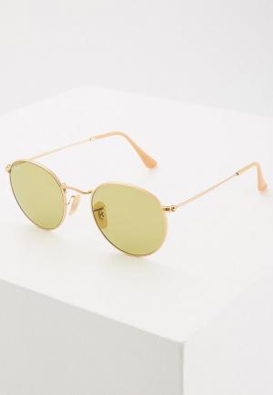Очки солнцезащитные Ray-Ban® RB3447 90644C. Цвет: золотой