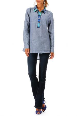 Рубашка ANMOL. Цвет: синий