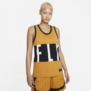 Женское баскетбольное джерси Dri-FIT Swoosh Fly - Коричневый Nike
