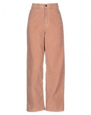 Повседневные брюки PENCE. Цвет: светло-коричневый