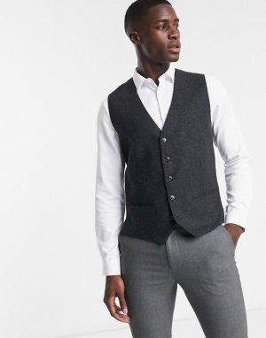 Серый жилет в елочку Premium Jack & Jones