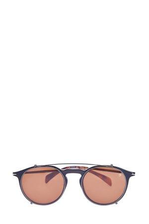 Очки с фирменными клипсами и рутениевым напылением DAVID BECKHAM. Цвет: коричневый