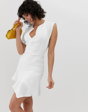 Платье мини Jess BA&SH. Цвет: белый