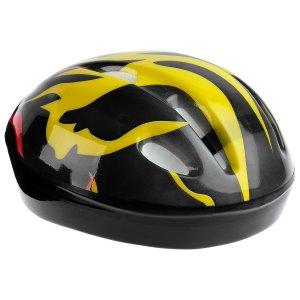 Шлем защитный детский ot-h6, размер s, 52-54 см, цвет чёрный ONLITOP