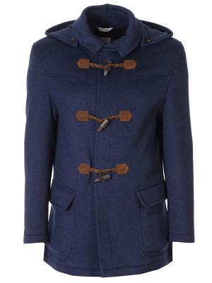 Кашемировое пальто-дафлкот Colombo. Цвет: синий