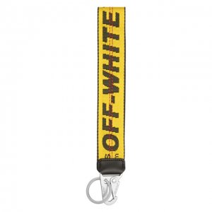 Текстильный брелок Off-White. Цвет: жёлтый