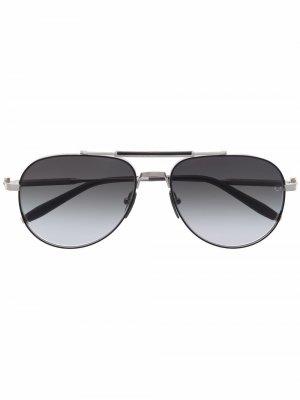Солнцезащитные очки-авиаторы Hydra Akoni. Цвет: серый