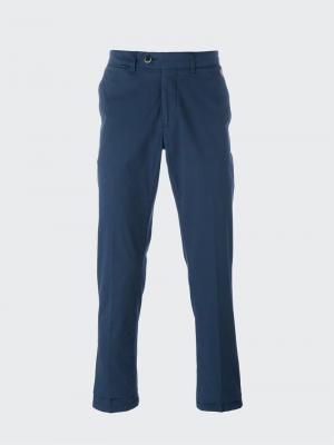 Классические брюки-чинос Corneliani. Цвет: синий
