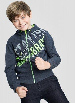 Трикотажная куртка для мальчиков O`Stin. Цвет: темно-синий