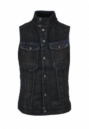 Жилет джинсовый G-Star GS001EMLK748. Цвет: черный