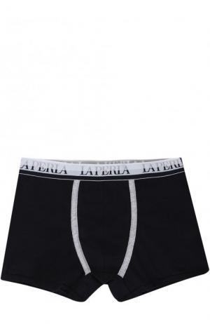 Хлопковые боксеры с логотипом бренда La Perla. Цвет: синий