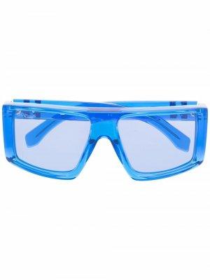 Солнцезащитные очки Alps в квадратной оправе Off-White. Цвет: синий