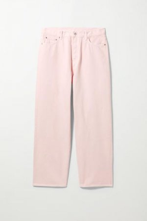 Прямые джинсы свободного кроя Galaxy Weekday. Цвет: розовый