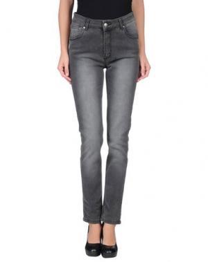 Джинсовые брюки-капри MINIMUM. Цвет: черный