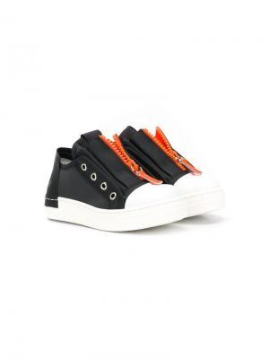 Кроссовки на молнии Cinzia Araia Kids. Цвет: черный