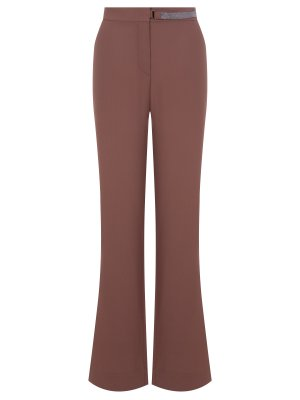 Шелковые брюки-клеш BRUNELLO CUCINELLI