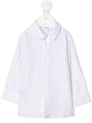 Рубашка с заостренным воротником Aletta. Цвет: белый