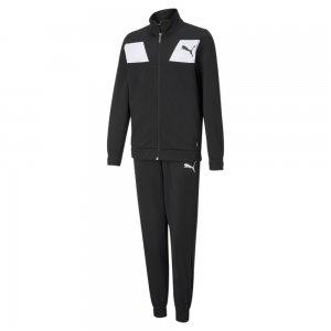 Детский спортивный костюм Polyester Youth Tracksuit PUMA. Цвет: черный
