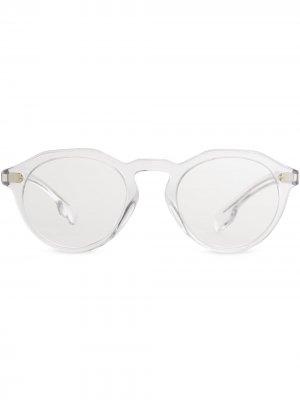 Круглая оправа для очков Burberry Eyewear. Цвет: crystal