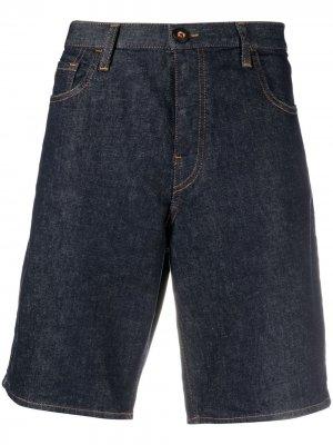Джинсовые шорты-бермуды Emporio Armani. Цвет: синий