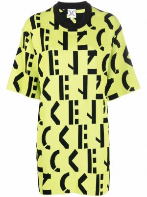 Knitted monogram dress Kenzo. Цвет: зеленый