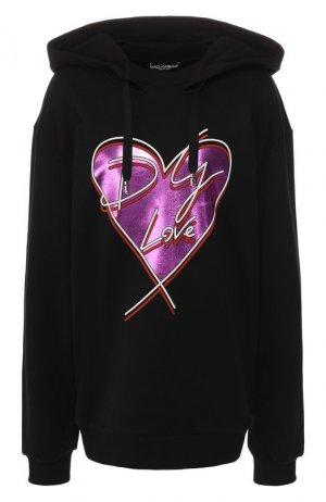 Хлопковый пуловер Dolce & Gabbana. Цвет: черный