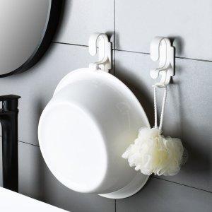 1шт Крючок для умывальника в ванной комнате SHEIN. Цвет: белый
